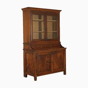 Italienisches Bücherregal aus Nussholz, 1800er