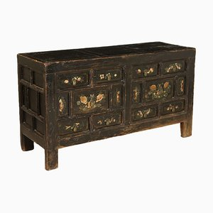 Antique Chinese Lacquered Wood Cabinet, 1800s