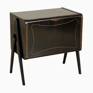 Mueble italiano vintage pequeño de ébano teñido