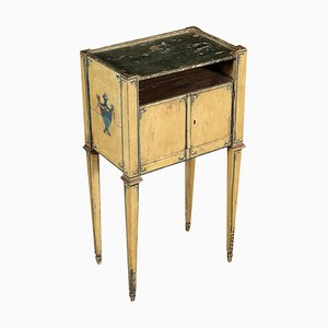 Antique Neoclassical Lacquered Nightstand