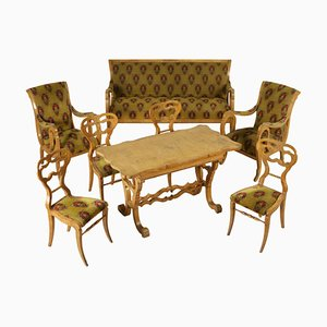 Antique Biedermeier Living Room Set