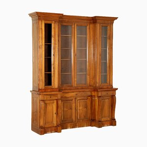 Italian Double Body Walnut Bookcase, 1800s