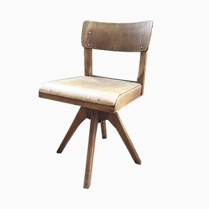 Small Beech Swivel Chair from Casala, 1950s