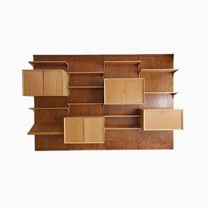 Mueble de pared Cado vintage de roble de Poul Cadovius, años 60