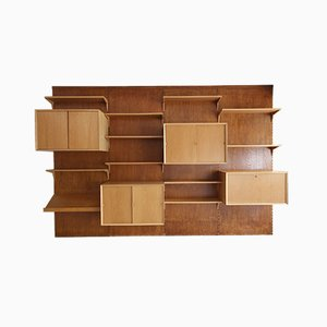 Vintage Oak Cado Wall System by Poul Cadovius, 1960s