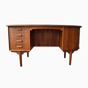 Mid-Century Rosewood Kidney-Shaped Desk from H.P. Hansen, 1960s