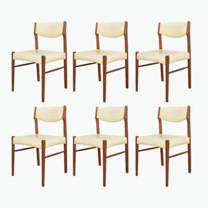 Chaises de Salle à Manger Mid-Century en Teck, Danemark, 1960s, Set de 4