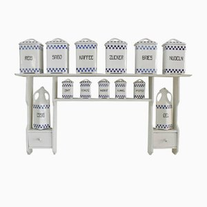 Art Nouveau Ceramic Spice Rack Set by Joseph-Maria Olbrich, 1900s