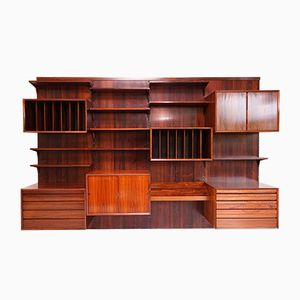 Rosewood Wall Unit by Poul Cadovius, 1960s