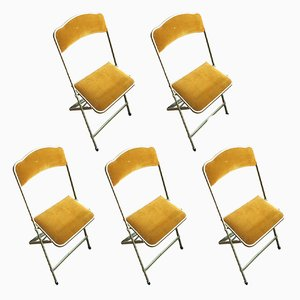 Vintage Folding Chairs from Chaisor, Set of 5