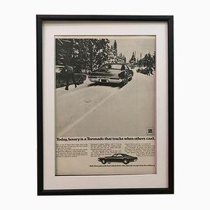 Gerahmtes General Motors Werbeposter, 1970er