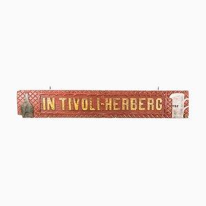 Niederländisches Vintage Tivoli Herberg Holzschild