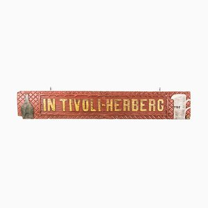 Vintage Dutch In Tivoli Herberg Wooden Sign