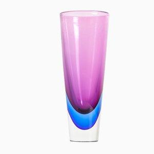 Sommerso Vase aus Muranoglas von Flavio Poli, 1950er