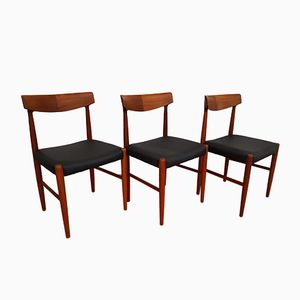 Model 343 Chairs by Knud Færch for Slagelse Møbelværk, Set of 3