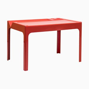 Roter Vintage Schreibtisch aus Fiberglas von Marc Berthier, 1960er