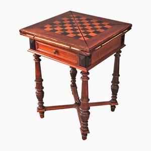 Mesa de juegos de madera, años 50