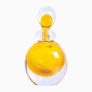 Bote de perfume de cristal de Murano de Flavio Poli, años 50
