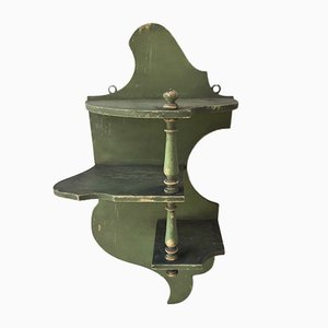 Small Antique Green Shelf