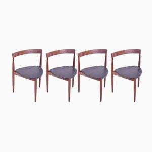 Dreieckige Esszimmerstühle aus Teak von Hans Holsen für Frem Røjle, 1960er, 4er Set