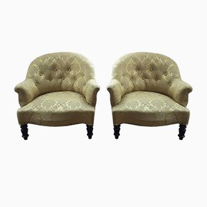 Antique Toad Armchairs, Set of 2