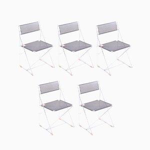 Dänische Vintage Metallstühle, 6er Set