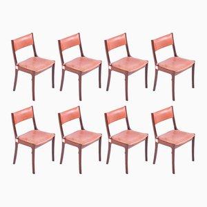 Mid-Century Esszimmerstühle aus Palisander, 8er Set