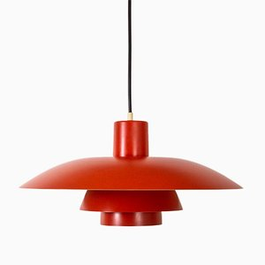 Lampada PH4 arancione di Poul Henningsen per Louis Poulsen, Danimarca, anni '50