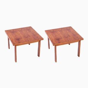Tables d'Appoint Vintage en Palissandre, Danemark, 1960s, Set de 2