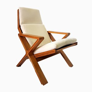 Mid-Century Oak Lounge Chair