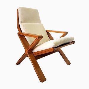 Mid-Century Sessel mit Gestell aus Eiche