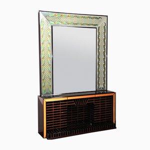 Sideboard mit Spiegel von Luigi Brusotti, 1940er