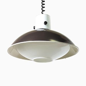 Vintage Glass Pendant Lamp from Limburg