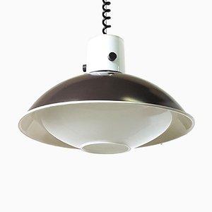 Vintage Glass Pendant Lamp from Limburg