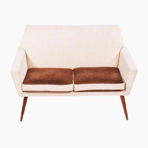 Sofá de dos plazas danés vintage