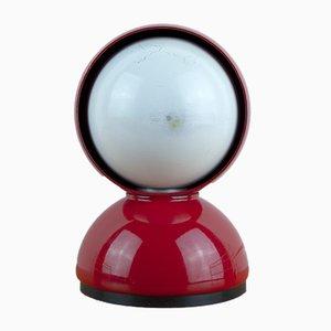 Lampada da tavolo Eclipse rossa di Vico Magistretti per Artemide, anni '60