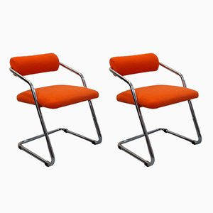 Vintage Italian Bridge Chairs, 1970s, Set of 2
