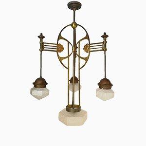 Lampada da soffitto Art Nouveau grande, anni '20