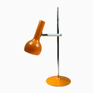 Orangene Space Age Tischlampe von Hillebrand Lighting, 1970er