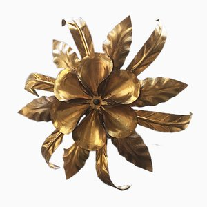 Golden Flower Wall Lamp, 1950s
