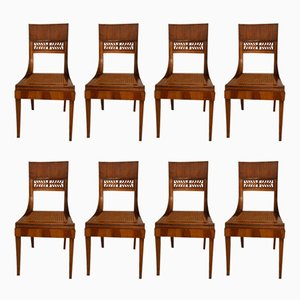 Antique Side Chairs, Set of 8