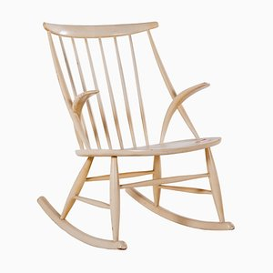 Danish Rocking Chair by Illum Wikkelsø for Niels Eilersen, 1950s