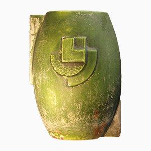Macetero francés Art Déco de hierro fundido, años 30