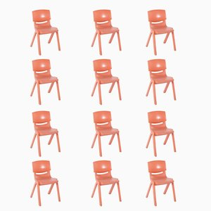 Vintage School Chairs by Mark Sebel, 1980s, Set of 12