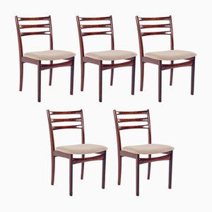 Vintage Danish Dining Chairs from Skovby, 1950s, Set of 5