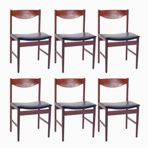 Chaises de Salle à Manger en Teck par Ib Kofod-Larsen, Danemark, 1960s, Set de 6