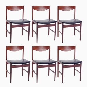 Danish Teak Dining Chairs by Ib Kofod-Larsen, 1960s, Set of 6