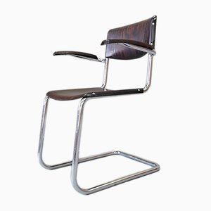 Bauhaus Chromed Desk Chair by Mart Stam for Bremshey & Co., 1950s