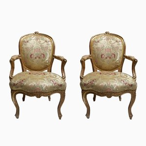 Antike venezianische Armlehnstühle, 2er Set
