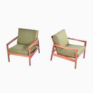 Mid-Century Armchairs by Hans Olsen, Set of 2